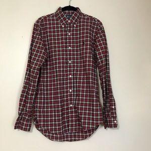 Ralph Lauren custom fit tartan plaid shirt
